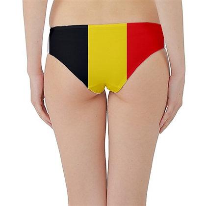 Belgium Flag Hipster Cheeky Bikini Bottoms