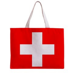 Switzerland Flag Tote Bag w/ Zipper.