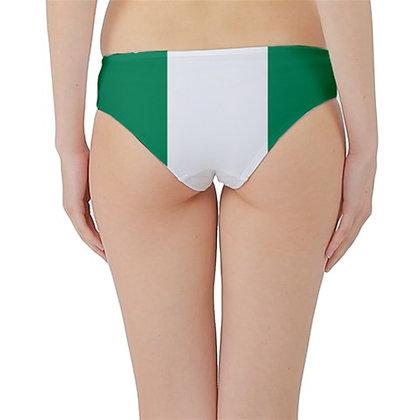 Nigeria Flag Hipster Cheeky Bikini Bottoms