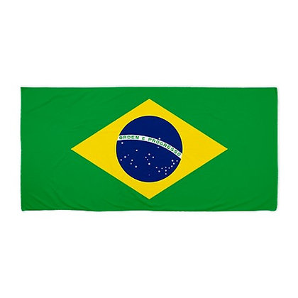Brazil Flag Beach Towel