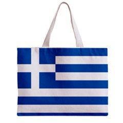 Greece Flag Tote Bag w/ Zipper.