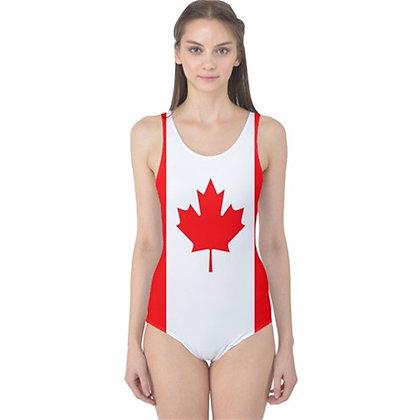 Canada Flag One Piece Swimsuit Bikini