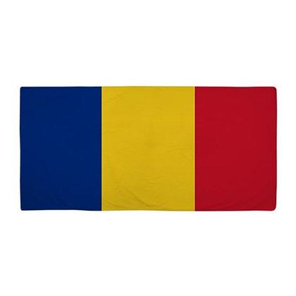 Romania Flag Beach Towel
