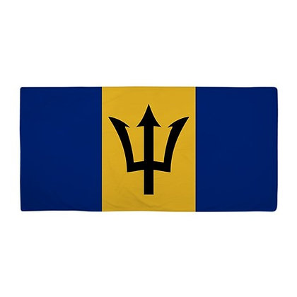 Barbados Flag Beach Towel