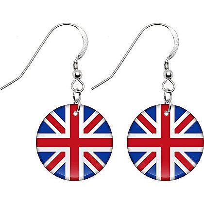 United Kingdom Flag Earrings
