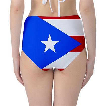 Puerto RIco High Waist Flag Bikini Bottoms