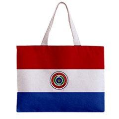 Paraguay Flag Tote Bag w/ Zipper.