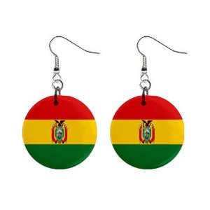 Bolivia Flag Earrings