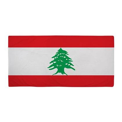 Lebanon Flag Beach Towel