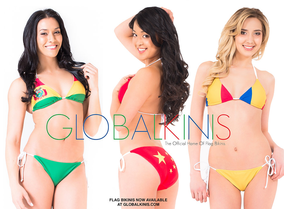 Globalkinis Bolivia Flag Bikini China Fl