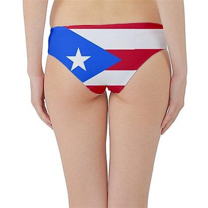Puerto Rico Flag Hipster Cheeky Bikini Bottoms