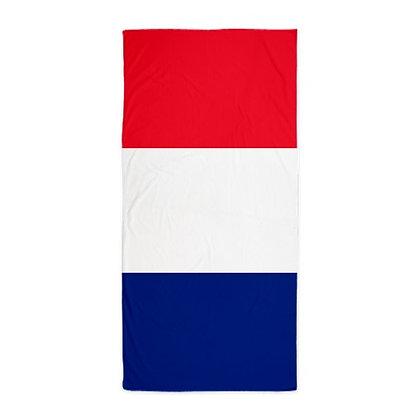 France Flag Beach Towel