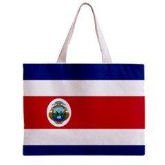Costa Rica Flag Tote Bag w/ Zipper.