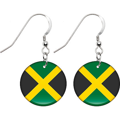 Jamaica Flag Earrings