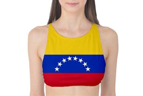 Venezuela Flag Tank Bikini Top