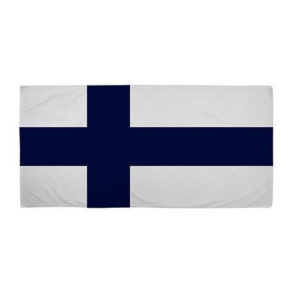Finland Flag Beach Towel