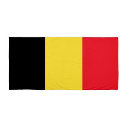 Belgium Flag Beach Towel