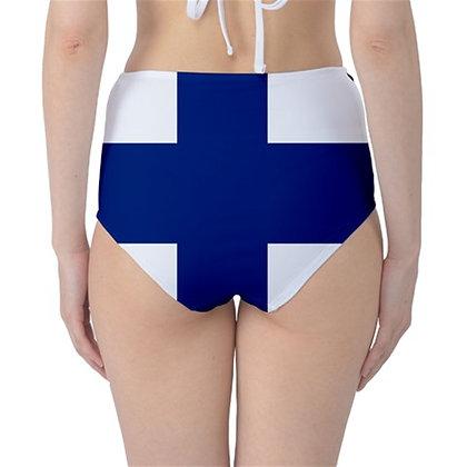 Finland High Waist Flag Bikini Bottoms