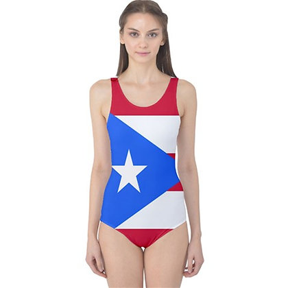Puerto Rico Flag One Piece Swimsuit Bikini