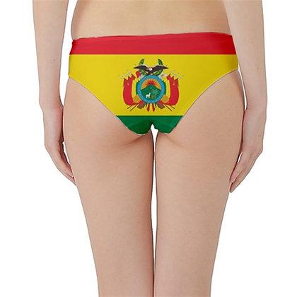 Bolivia Flag Hipster Cheeky Bikini Bottoms