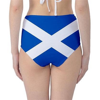 Scotland High Waist Flag Bikini Bottoms