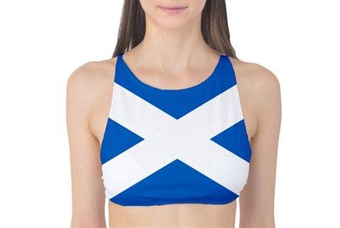 Scotland Flag Tank Bikini Top