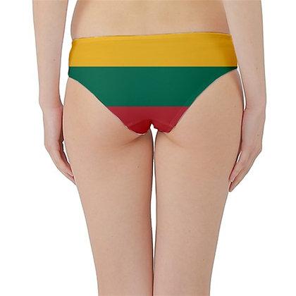 Lithuania Flag Hipster Cheeky Bikini Bottoms