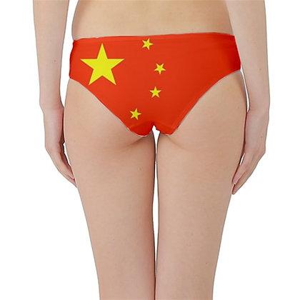 China Flag Hipster Cheeky Bikini Bottoms