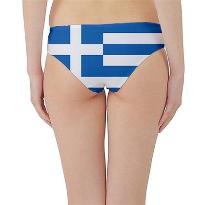 Greece Flag Hipster Cheeky Bikini Bottoms