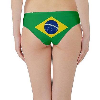 Brazil Flag Hipster Cheeky Bikini Bottoms