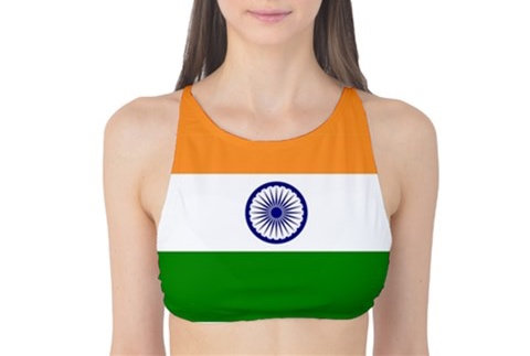 India Flag Tank Bikini Top