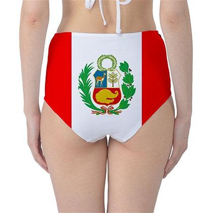 Peru High Waist Flag Bikini Bottoms