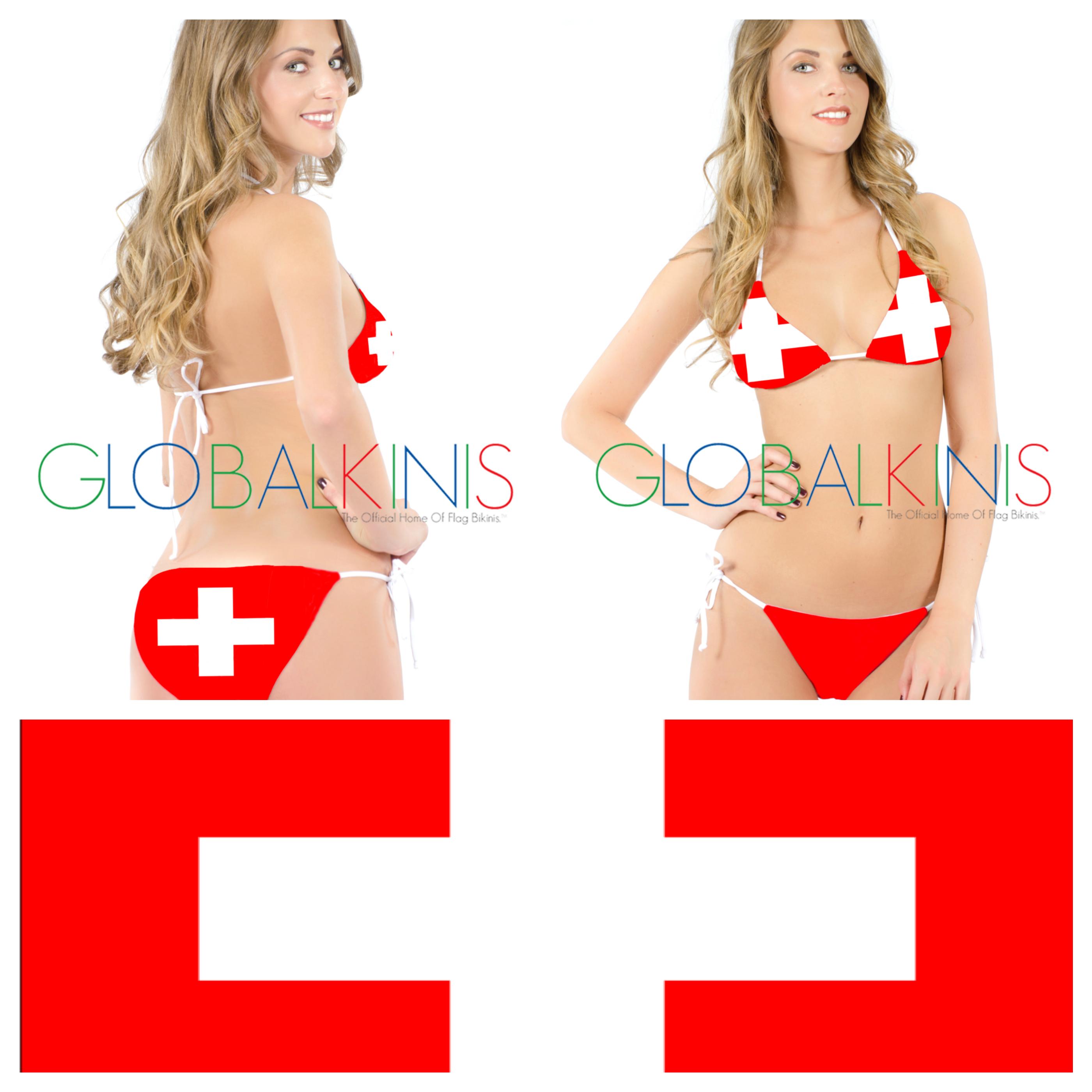 Swiss Flag Bikini