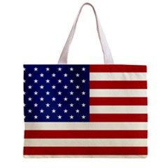 American Flag Tote Bag w/ Zipper.