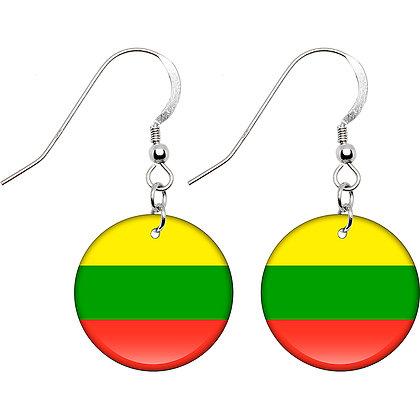 Lithuania Flag Earrings