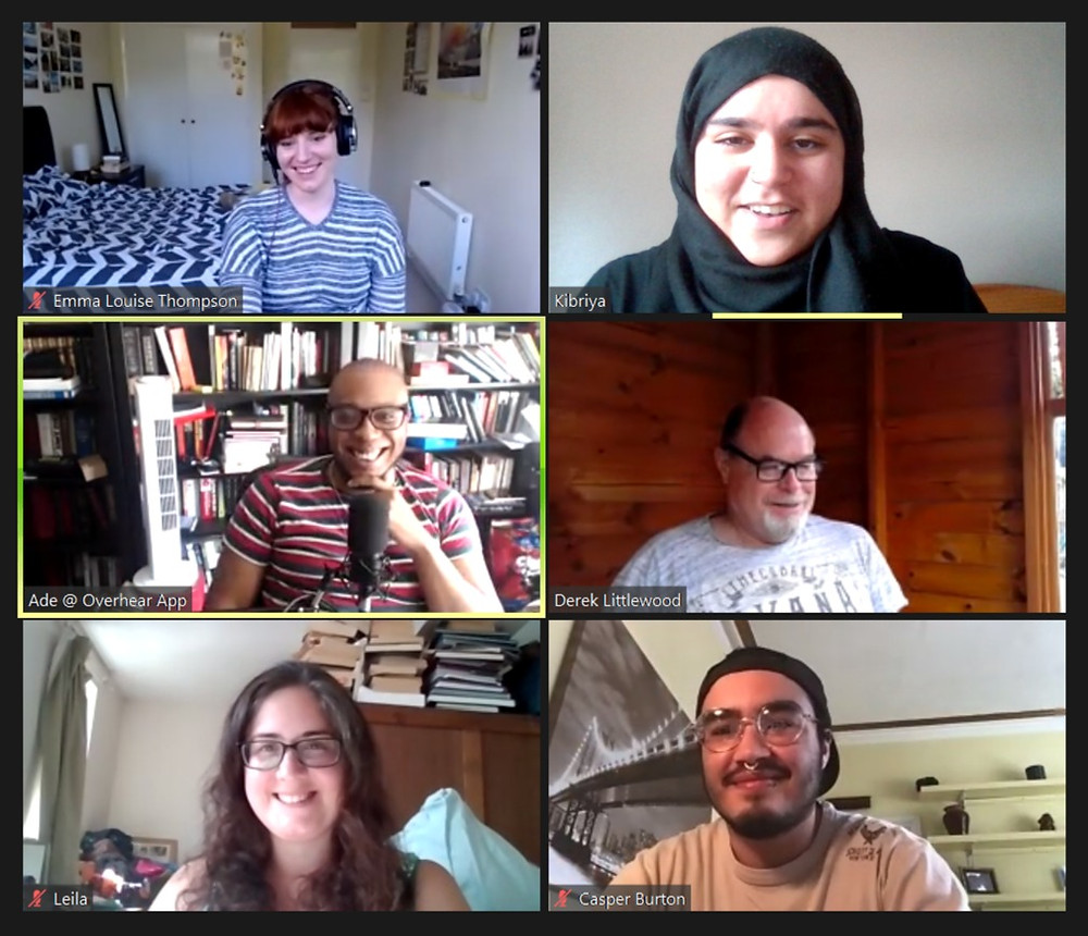 a screenshot of a Zoom call with various participants smiling