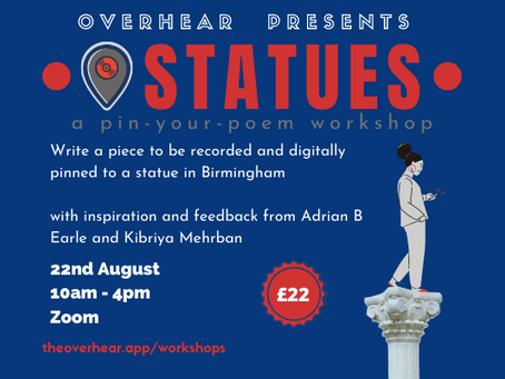 Rewriting the plaques on Birmingham's past: What to expect from Overhear's first Workshop