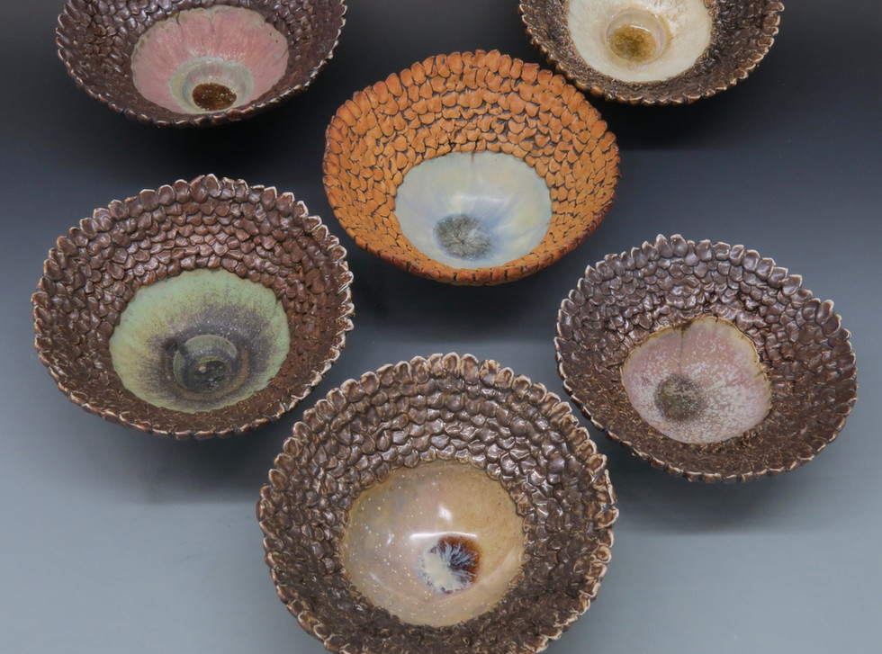 """Various bowl forms approx. 4"""" x 8"""" x 8"""""""