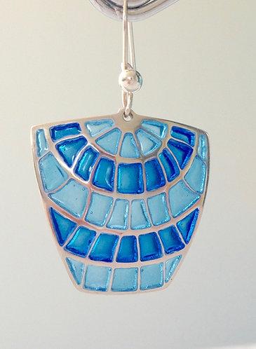 Sasa Shield Earrings - Cerulean
