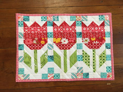 Vintage Tulips Table Topper