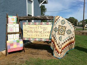 Sweet Home Stitching Post, fabric, quilt, quilting