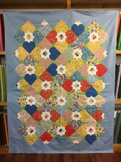 I Heart Feedsacks Quilt Top
