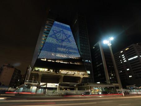 As cores de Israel brilham no céu da Paulista no  Yom Haatzmaut