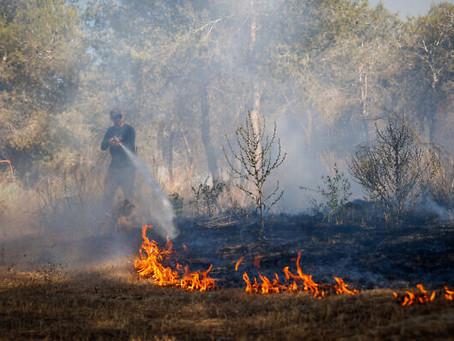 Balões incendiários de Gaza  no sul pelo segundo dia consecutivo