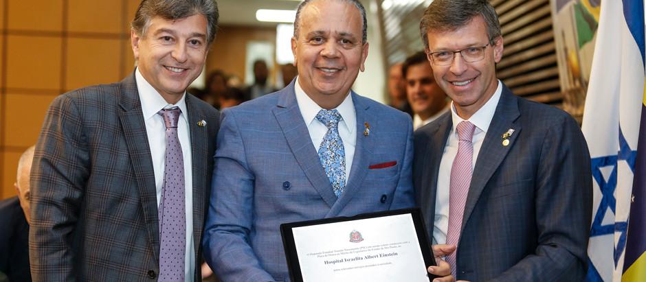 Hospital Albert Einstein recebe homenagem na Assembleia Legislativa do Estado