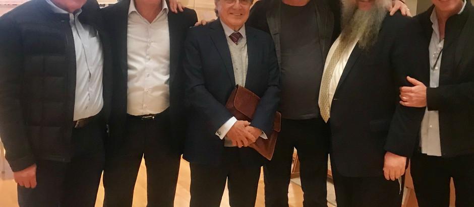 Knesset Israel comemorou um ano da nova Sede com palestra do jornalista Carlos Alberto Sardenberg