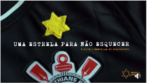 """""""Uma estrela para não esquecer"""" ação social do Corinthians em memória a Noite dos Cristais"""
