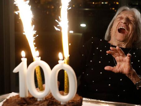 A mais velha campeã olímpica viva, uma sobrevivente do Holocausto, completa 100 anos