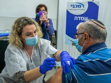 Com 379.000 injeções administradas, Israel lidera o mundo em vacinas per capita