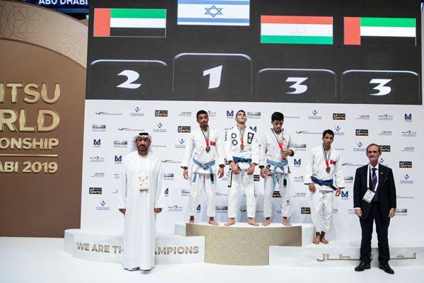 Histórico: O hino israelense foi ouvido em Abu Dhabi com o campeão mundial de jiu-jitsu de Israel